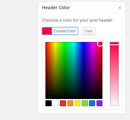Color picker in a meta box