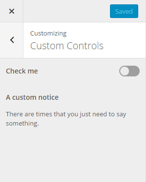 Custom information control