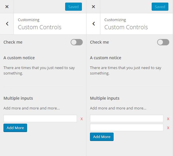 Multiple input control field