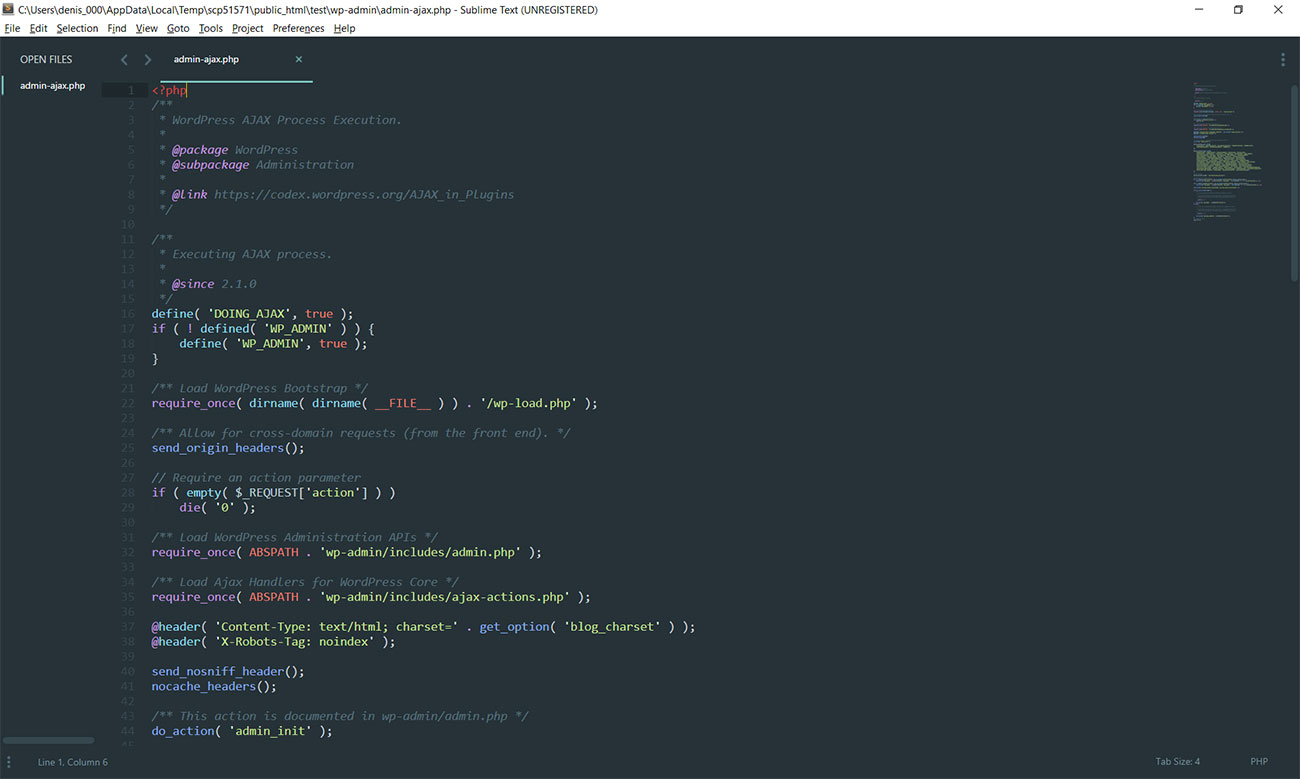 SublimeText 3 editor