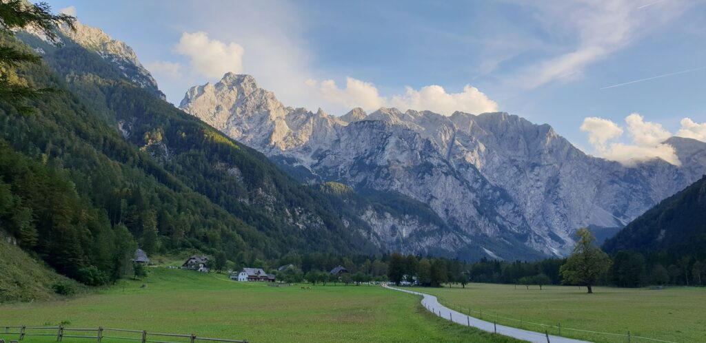 A picture of Logarska valley in Slovenia